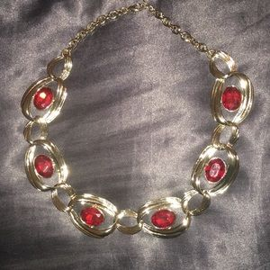 Jewelry - Red & Gold Necklace